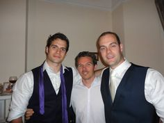 On his brother's wedding day but Henry I'd like to take that purple tie around your neck and pull you towards me for a smooch... ;)