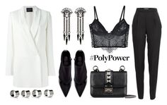 """""""What's Your Power Outfit?"""" by eva-jez ❤ liked on Polyvore featuring Lanvin, Ben-Amun, Zara, Vionnet, For Love & Lemons, Valentino, Maison Margiela and PolyPower"""