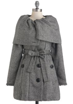 Be-tweed You and Me Coat, #ModCloth