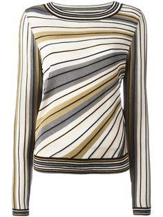 Shop Diane Von Furstenberg striped knitted top.