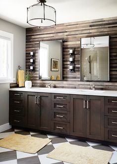 A Suburban Oasis - transitional - Bathroom - San Francisco - Kristina Wolf Design