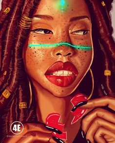 Digital artist celebrates Black women in gorgeous illustrations Sexy Black Art, Black Love Art, Black Girl Art, Art Girl, Black Girls, African American Art, African Art, Most Beautiful Black Women, Art Et Design