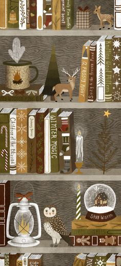 New Ideas For Cute Illustration Art Inspiration Etsy Illustration Mignonne, Art Et Illustration, Christmas Illustration, Illustrations, Walpapers Iphone, Iphone Icon, Deco Harry Potter, Bookmark Printing, Christmas Wallpaper