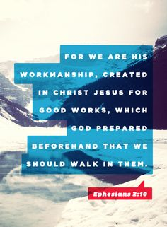 Ephesians 2:10 It is God's work. Jesus is the author and perfecter of our faith. We only need to turn our eyes towards him <3