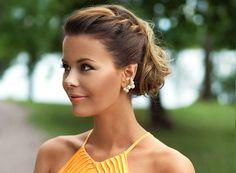 Nettenestea bryllup annette haga oransje kjole jersey hair hår oppsatt ted baker dress wedding look outfit leopard ysl clutch hvalstrand aug...