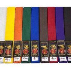 Différentes couleurs de ceinture