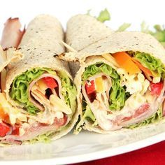Wraps with ham and raw vegetables - cuisine - Raw Food Recipes Wrap Recipes, Raw Food Recipes, Salad Recipes, Healthy Recipes, Snack Recipes, Healthy Foods, Healthy Wraps, Vegetarian Wraps, Ham Wraps