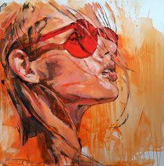 """summerfeeling"" 90x90cm, acrylic on canvas Fine Art, Artwork, Painting, Printmaking, Graphics, Watercolor, Painting Art, Work Of Art, Auguste Rodin Artwork"
