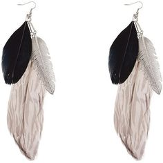 Black Feather Drop Earrings ($12) ❤ liked on Polyvore featuring jewelry, earrings, black earrings, kohl jewelry, black jewelry, black feather earrings and black jet jewelry