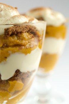 Pumpkin Parfaits with Ginger Snaps #vegan #dessert