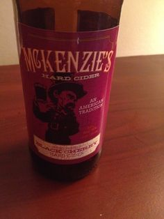 McKenzie's Black Cherry cider is brewed in West Seneca New York and comes in at 5 ABV.  The appearance is basic cider gold and the nose cherry apple.  The cherry flavor is certainly present though a lot of apple comes through as well.  This isn't a bad cider, a lot of better than the mass produced stuff but not quite up to artisan or specialty grade.  It's worth a shot if you can find it in your area and into trying hard ciders.