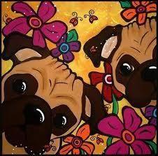 Pugs in cartoon!