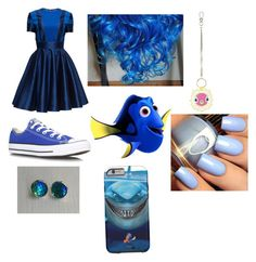 """""""Dory outfit"""" by tyanna955 ❤ liked on Polyvore featuring Lattori, Converse and Topshop"""