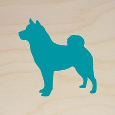 Shiba Inu Art Block HandCut Dog Silhouette on by MillerSyeShadows, $29.00
