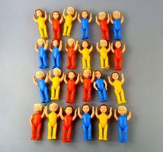 Steckfiguren 4X Komplettsätze Kinder Im Freizeitanzug Neuauflage Top | eBay