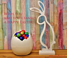 Opus wishes you and your family a Happy Easter! Small Balloons, The Balloon, Melted Plastic, Plastic Spoons, Chocolate Nests, Easter Backdrops, Egg In A Hole, Wooden Rabbit, Easter 2018