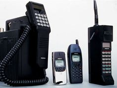 The cell phone throughout the years.  media images of 1980's | Where would the 1980s have been without the housebrick… Or, mobile ...