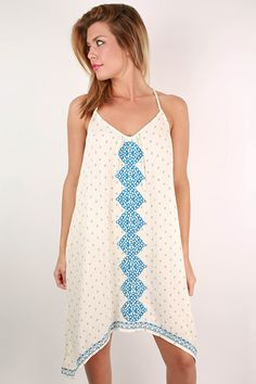 We love the embroidery on the front and along the bottom hem!