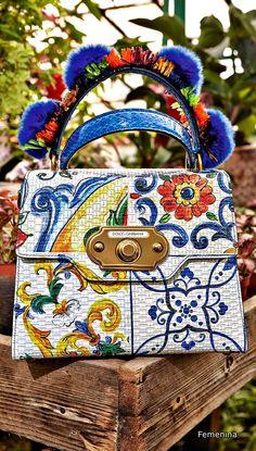"""Dolce & Gabbana Fall Winter 2018-19 Collection """" I Love Maiolica""""- Bag"""