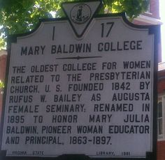 I wonder if there will ever be a Mary Baldwin University (though I prefer changing it to Woodrow Wilson University).