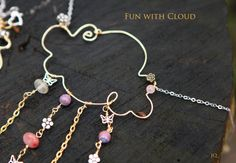 Play With Funny Cloud Hand Made Pendant  Be by JamiesQuilting, $28.00
