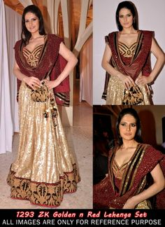 Bollywood actress Zarine Khan #lehnga #wedding #bridal #shaadi #women #bride #LehengaCholi #ethnic #wear #desiwedding #asianclothes #bollywood #indian #trendz #indiantrendz