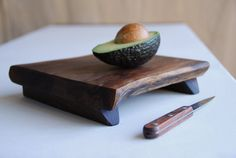 Walnut Cutting Board Rustic Wood Serving Tray Footed Cheese Board Organic Kitchen