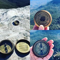"Kel az Instagramon: ""Thankyou @triball_queen for gifting me with your dad's compass- 'The Road not taken' I took it to my heart place today and places it on the…"""