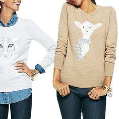 Rank & Style - C. Wonder Little Lamb Intarsia Crewneck Sweaters #rankandstyle