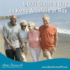 The benefits of walking are widely known and continually proven. A recent study found that walking 6,000 steps a day—the equivalent of 1 hour— may help improve knee arthritis and prevent disability.
