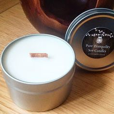 Pure Tranquility Candles: Soy Candle Travel Tins with Wood Wicks New stock f...