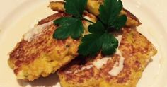 Chunky Haloumi, Sweet potato & Corn Fritters.  Baked in oven for 14 mins, 200C. Thermomix recipe