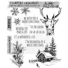 MUST GET FOR RICHELE CHRISTIANSEN CLOCK!!!!! Tim Holtz Cling Rubber Stamps 2016 SCRIBBLE WOODLAND CMS282 CMS282 $21.99