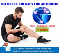 Stem Cell therapy for Rheumatoid Arthritis is best treatments available in India. Get Affordable cost of Stem Cell treatment for Knee joint, hip joint, shoulder Arthritis in India by our center is there to serve the patients. Synovial Joint, Shoulder Arthritis, Rheumatoid Arthritis Treatment, Stem Cell Therapy, Best Hospitals, Alternative Treatments, Knee Pain, Stem Cells, India