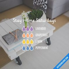Stay Home Saturdays - Essential Oil Diffuser Blend Essential Oils Guide, Essential Oil Uses, Doterra Essential Oils, Elixir Floral, Essential Oil Combinations, Essential Oil Diffuser Blends, Aromatherapy Oils, Aromatherapy Recipes, Back To Nature