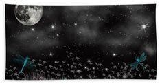 Night Critters Bath Sheet featuring the digital art Night Critters by Scott Hervieux