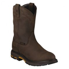 """Ariat Men's 10"""" Workhog® Pull-On H2O – Round Non-Safety Toe - 10001198 Profile"""