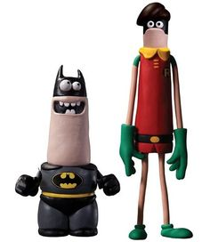 Aardman Batman & Robin Action Figure 2 Pack by DC Collectibles