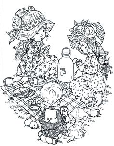 Cute coloring pages Sarah Key, Cute Coloring Pages, Colouring Pics, Coloring Pages For Kids, Coloring Books, Hobbies For Adults, Creation Art, Holly Hobbie, Digital Stamps