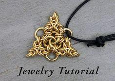 Tripoli Triangle Pendant Jewelry Tutorial