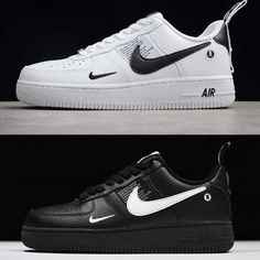 Nike Air Force 1 07 LV8 utility back and white Nike Shoes Air Force 8abf352eebdb