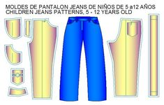 moldes pantalon estilo jeans de niños