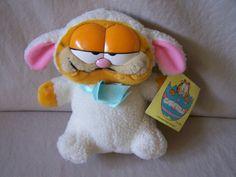Vintage Dakin Garfield Lambykins Plush Easter Doll Toy Davis Lamb Body $39.99