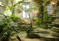 Make Oriental Atmosphere With Indoor Japanese Garden Easy Garden, Home And Garden, Outdoor Spaces, Indoor Outdoor, Interior Garden, Indoor Plants, Indoor Vertical Gardens, Houseplants, Vegetable Garden
