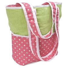 Hoohobbers Daisy Tote Diaper Bag with Optional Personalization - 261-37