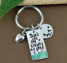 Thank you for Helping Me grow Keychain | Thank you gift for Teacher | Gift for Teacher | Teacher Appreciation Gift | Teacher Keychain