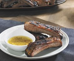 Spanish Spareribs with Herb-Garlic Dipping Sauce - Fine Cooking Recipes, Techniques and Tips Pork Rib Recipes, Sauce Recipes, Cooking Recipes, Cooking Ideas, Garlic Dipping Sauces, Garlic Sauce, South American Dishes, Tapas Dinner, Spanish Dishes
