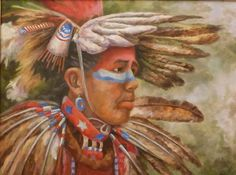"""""""Dances with Eagles"""", original oil painting, by MIKE WATSON"""