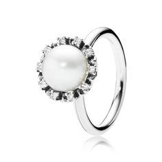 PANDORA | Everlasting Grace, White Pearl & Clear CZ