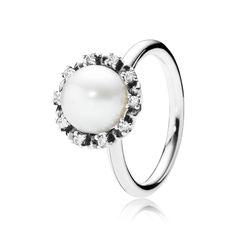 PANDORA | Everlasting Grace, White Pearl & Clear CZ
